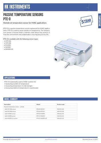 PTE-O Outside air temperature sensor