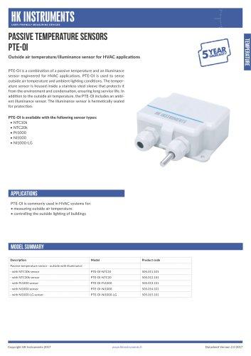 PTE-OI Outside air temperature/illuminance sensor