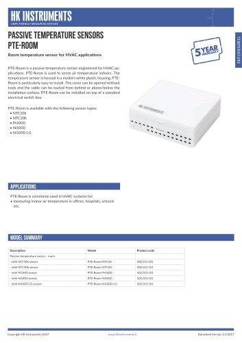 PTE-Room Room temperature sensor