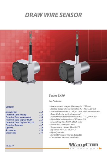 Draw Wire Sensor SX50