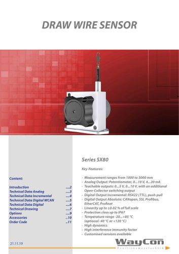 Draw Wire Sensor SX80