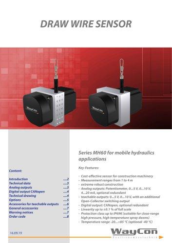 Draw Wire Sensors MH60
