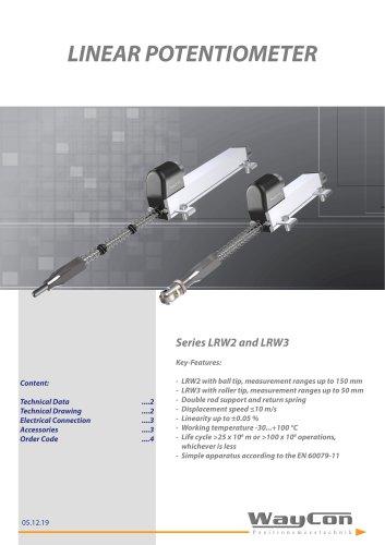 Linear Potentiometer LRW2, LRW3