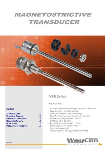 Magnetostrictive Transducer MSB