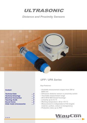 Ultrasonic Sensors UFP, UPA