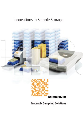 Micronic Catalogue 2007 'Innovations in Sample Storage'