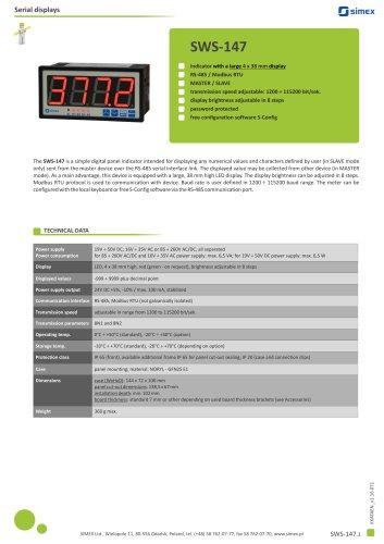 Digital indicator SWS-147