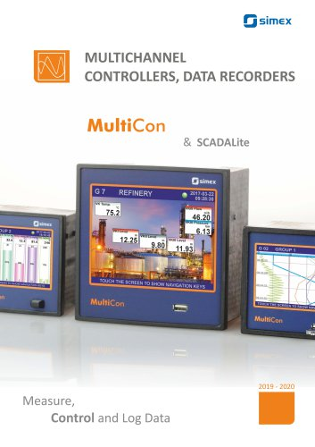 Overview of the MultiCon line - multichannel controllers and data recorders