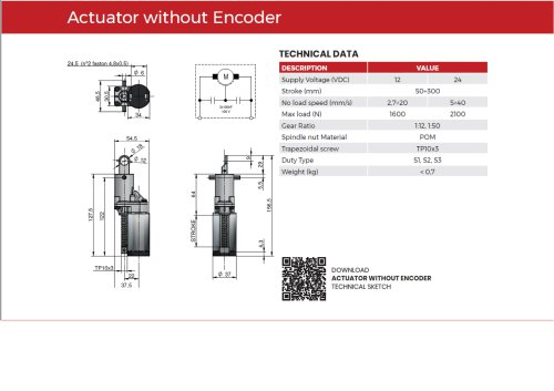 Actuator without encoder