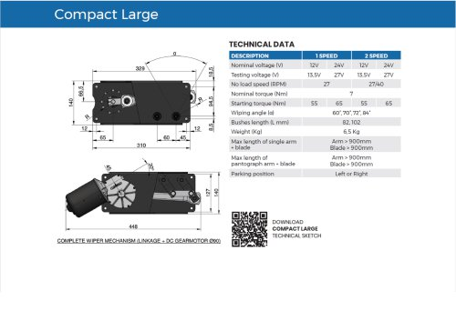 Wiper system Compact Large