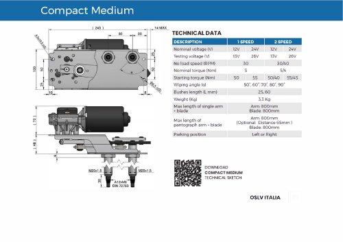 Wiper system Compact Medium