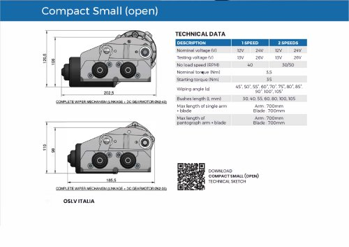 Wiper system Compact Small