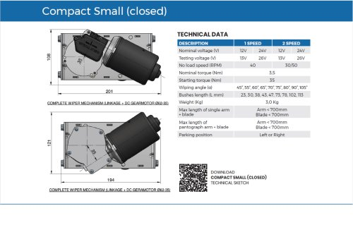 Wiper System Compact Small (closed)