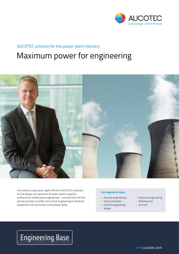Engineering Base For The Power Plant Construction Industry Aucotec Pdf Catalogs Technical Documentation Brochure