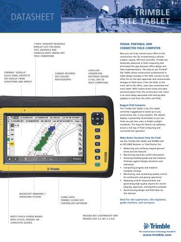 Datasheet Trimble Site Tablet