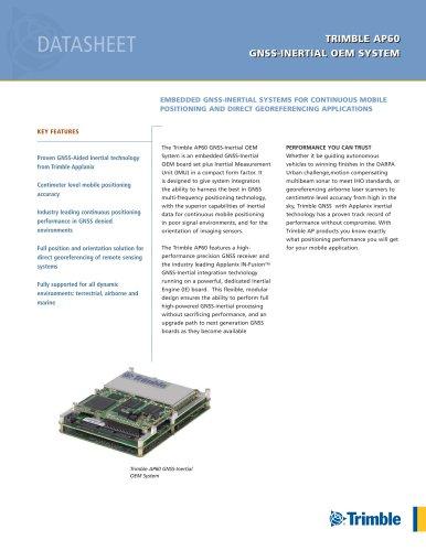 TRIMBLE AP60 GNSS-INERTIAL OEM SYSTEM