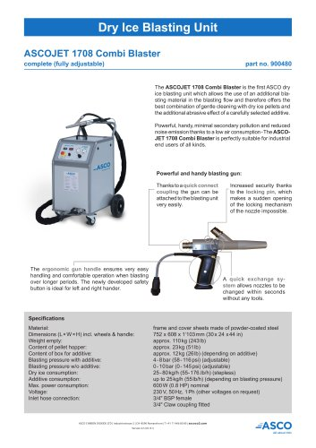 Dry Ice Blasting Unit 1708
