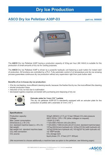Dry Ice Pelletizer A30P