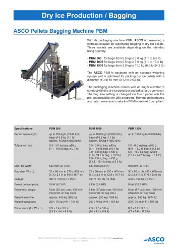 Pellets Bagging Machine BPM 500/1000/1500