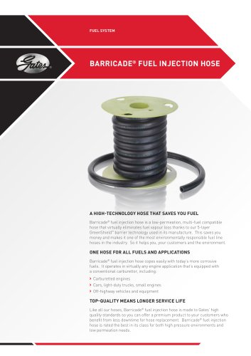 BARRICADE® FUEL INJECTION HOSE