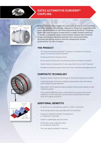 Gates Automotive EuroGrip® Coupling