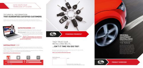 Gates product overview brochure automotive replacement