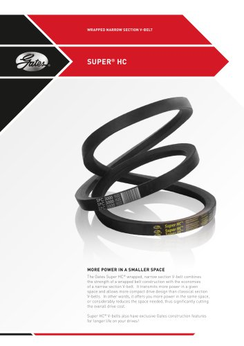 WRAPPED NARROW SECTION V-BELT   SUPER HC