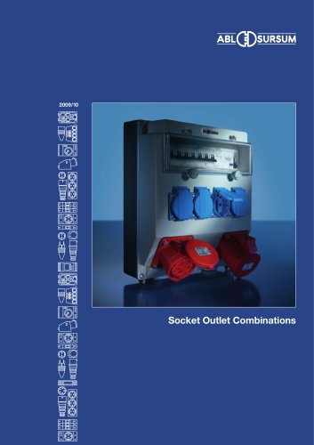 Catalogue socket outlet combinations 2009