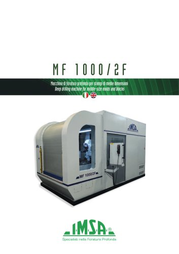 MF1000/2F Deep drilling machine for molds up to 5 tons