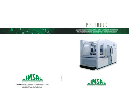 MF1000C Gundrilling machine for molds up to 4 tons