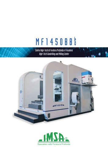 MF1450BB evo Deep hole drilling and milling center for molds up to 12 tonnes