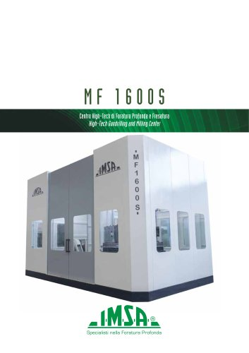 MF1600S Gundrilling and milling machine for molds up to 20 tonnes
