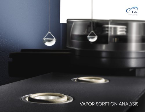 VAPOR SORPTION ANALYSIS