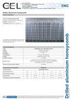 Drilled aluminium honeycomb