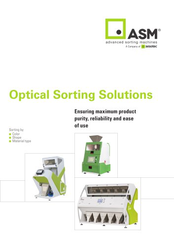 Optical Sorting Solutions for the food industry