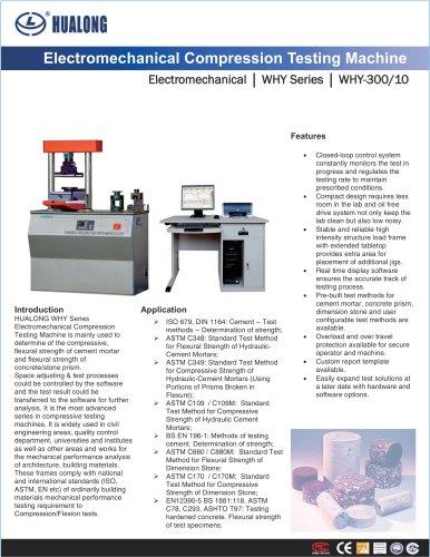 HUALONG|Compression testing machine|WHY|Electromechanical|300/10kN