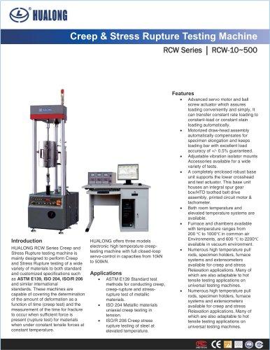 HUALONG|Creep and Stress Rupture Testing Machine|RCW|10~500kN