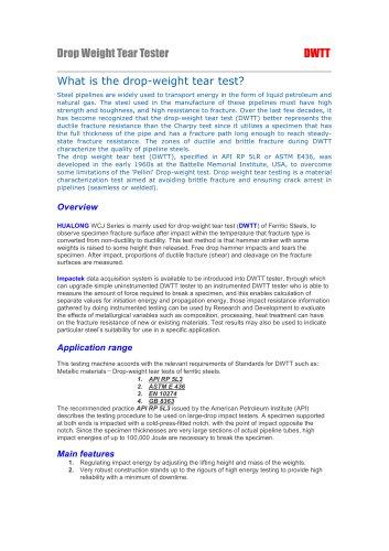 HUALONG|Drop Weight Tear Tester-DWTT|WCJ|20000~10000J