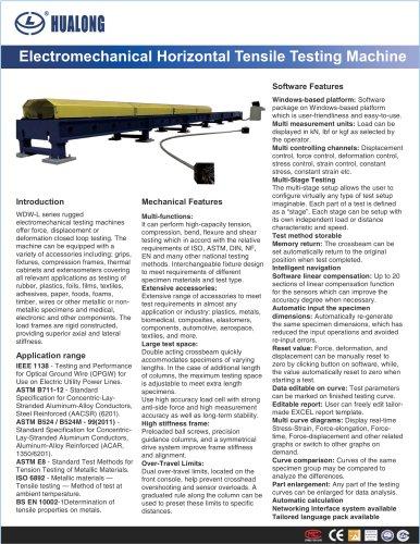 HUALONG|Electrical Horizontal Tensile Testing Machine|WDW-L|300~1000kN|Long cable