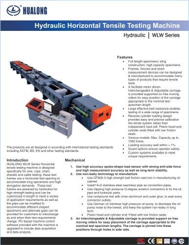 HUALONG|Horizontal tensile testing machine|WLW-Hydraulic|1000~10000kN