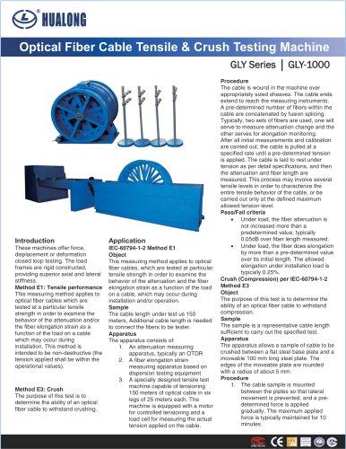 HUALONG|Tensile & Crush testing machine|GLY-1000|Optical fibre cable