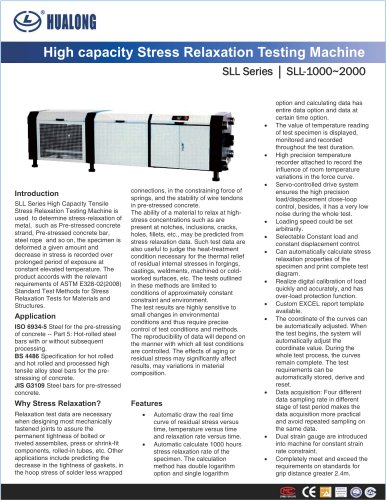 HUALONG|Tensile Stress Relaxation Testing Machine|SLL-2000
