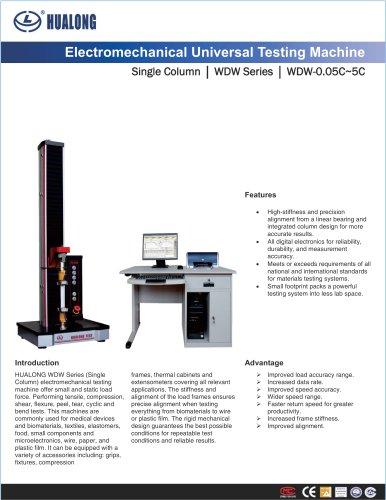 HUALONG|Universal Testing Machine|WDW-Single Column|50~5000N