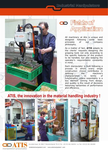 Pneumatic handling manipulators: suction cups tooling for glass handling