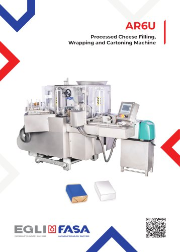 AR6U - PROCESSED CHEESE FILLING, WRAPPING AND CARTONING MACHINE