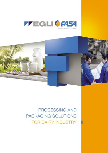 FASA CATALOGUE - PROCESSING AND PACKAGING SOLUTIONS FOR DAIRY INDUSTRY