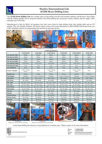 Steelex ACDM Beam Drilling Lines