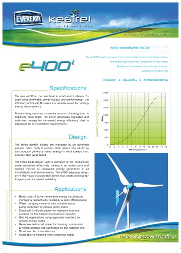 e400i (3kW) - Eveready Diversified Products - PDF Catalogs