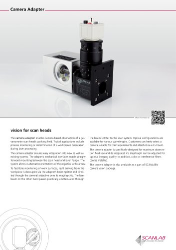 vision for scan heads: Camera Adapter