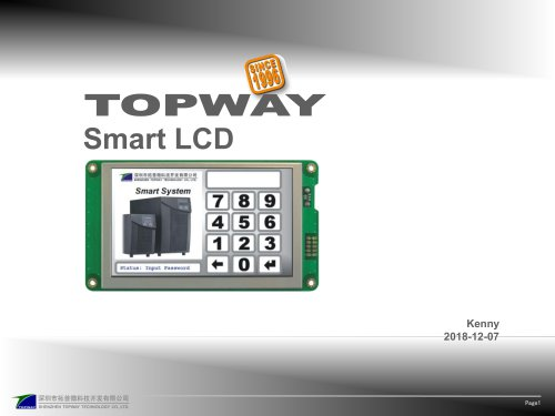 Smart LCD introduction